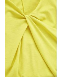 COS Yellow Dress With Draped Neckline