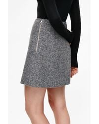 COS Gray A-line Wool Skirt