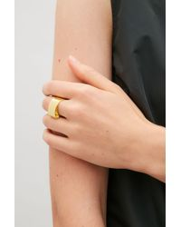 COS - Metallic Metal Ribbon Ring - Lyst