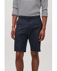 COS Blue Cotton Chino Shorts for men