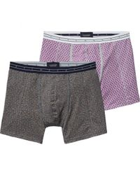 Scotch & Soda - Gray 2-pack Melange Boxer Shorts for Men - Lyst