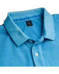 Replay - Blue Garment Dyed Pique Mens Polo Shirt for Men - Lyst