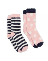 Joules - Multicolor Fab Shortie 2-pk Womens Socks (x) - Lyst