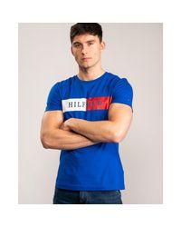 Tommy Hilfiger Blue Block Stripe Hilfige for men