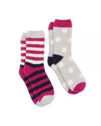 Joules - Red Fab Shortie 2-pk Womens Socks (x) - Lyst