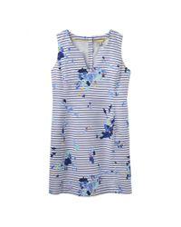 Joules Blue Elayna Printed Dress