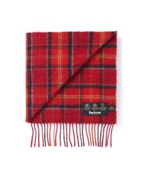 Barbour Red Lambswool Scarf