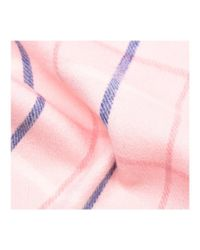 Barbour - Pink Country Tattersall Scarf - Lyst