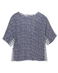 White Stuff - Blue Poetry Patch Womens Top - Lyst
