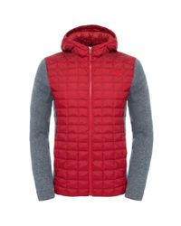 The North Face   Red Thermoball Gl Mens Hoodie for Men   Lyst