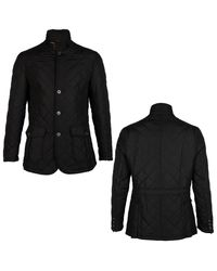 Barbour Black Quilted Lutz Jacket for men