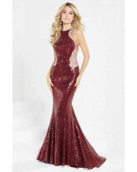 Tiffany Designs 16284 Contoured Illusion Panel Mermaid Gown