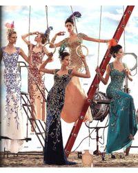 Alyce Paris | Metallic Claudine - Dress In Jade Gold | Lyst