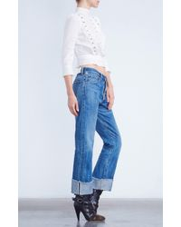 Citizens of Humanity Blue Parker Relaxed Cuffed Crop In Anberlin (selvedge)