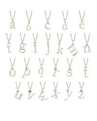 Rachael Ryen - Metallic K White Gold Letter Charm Necklace - All Letters Available - Lyst