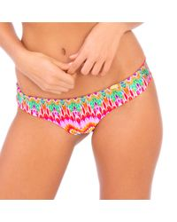 Luli Fama - Sunkissed Laughter Wavey Back Ruched Bottom In Multicolor (lp) - Lyst