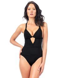 Voda Swim Black Envy Push Up Structured One Piece