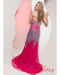 Jasz Couture - Pink Dress In Fuschia Turquoise - Lyst
