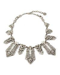 Ben-Amun   Metallic Deco Crystal Tower Collar Necklace   Lyst