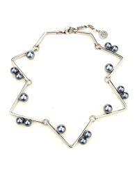 Ben-Amun | Metallic Sculptural Geometric Necklace With Pearls | Lyst