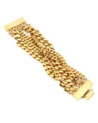 Ben-Amun | Metallic Gold-tone Stone Bracelet | Lyst