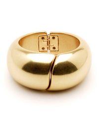 Ben-Amun | Metallic Gold Hinge Cuff | Lyst