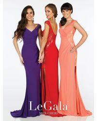 Mon Cheri | La Gala Prom By - Long Dress In Purple | Lyst