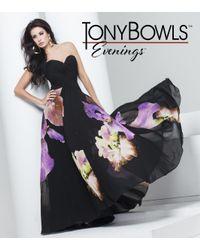 Mon Cheri   Tb Evenings By - Tbe Long Dress In Black Green Multicolor   Lyst