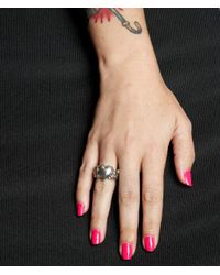 Femme Metale Jewelry - Black Love Swallows Ring - Lyst