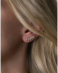 Rachael Ryen - Metallic Petal Ear Climbers - Lyst