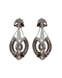Deepa Gurnani - Black Wisteria Earrings - Lyst