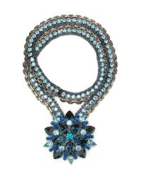 Elizabeth Cole | Blue Starina Necklace | Lyst