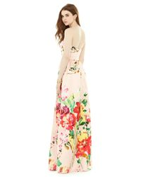 Alfred Sung - Brown Dfp Bridesmaid Dress In Blush Bouquet - Lyst
