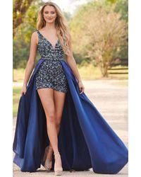 Rachel Allan Blue Prom
