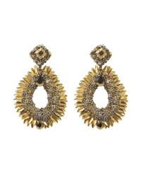 Deepa Gurnani   Black Quiyl Earrings   Lyst