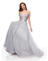 Clarisse Multicolor Lace Off-shoulder A-line Evening Gown 3785