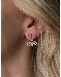 Rachael Ryen - Metallic Teardrop Baguette Ear Jackets - Labradorite - Lyst