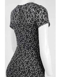 Adrianna Papell - Black Ap1d100323 Floral Lace Jewel Sheath Dress - Lyst
