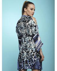 Baccio Couture - Blue Shy - Silk Short Dress - Lyst