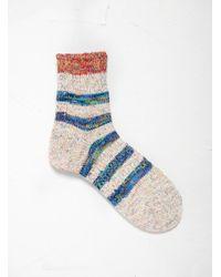 Mauna Kea Multicolor Border Stripe Socks for men