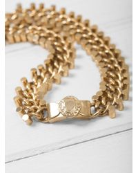 Maison Mayle Metallic Chain And Signet Necklace