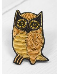 Macon & Lesquoy - Multicolor Owl Brooch - Lyst