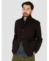 Engineered Garments Brown 7.5oz Bedford Jacket Black 7.5oz Denim for men