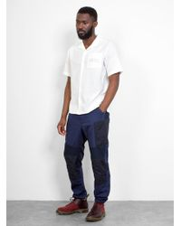 Engineered Garments Blue Moto Pant for men