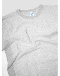 Velva Sheen - White Reverse Weave Ss Tee for Men - Lyst