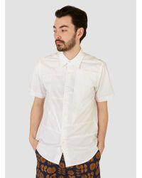 Rough & Tumble Block Shirt Heavy Oxford White for men