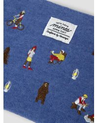 Weekend(er) - Camping Embroidered Pouch Blue - Lyst