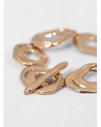 Modern Weaving Pink Soft Form Bracelet With Toggle