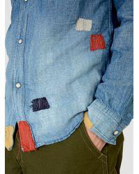 FDMTL Multicolor Denim Shirt 2yr Wash Denim for men