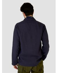 Sanca Blue Linen Shirt Jacket Navy for men